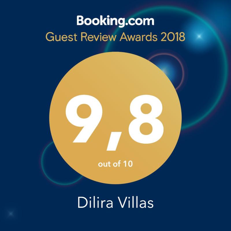Dilira Villas Booking.com Awards 2018